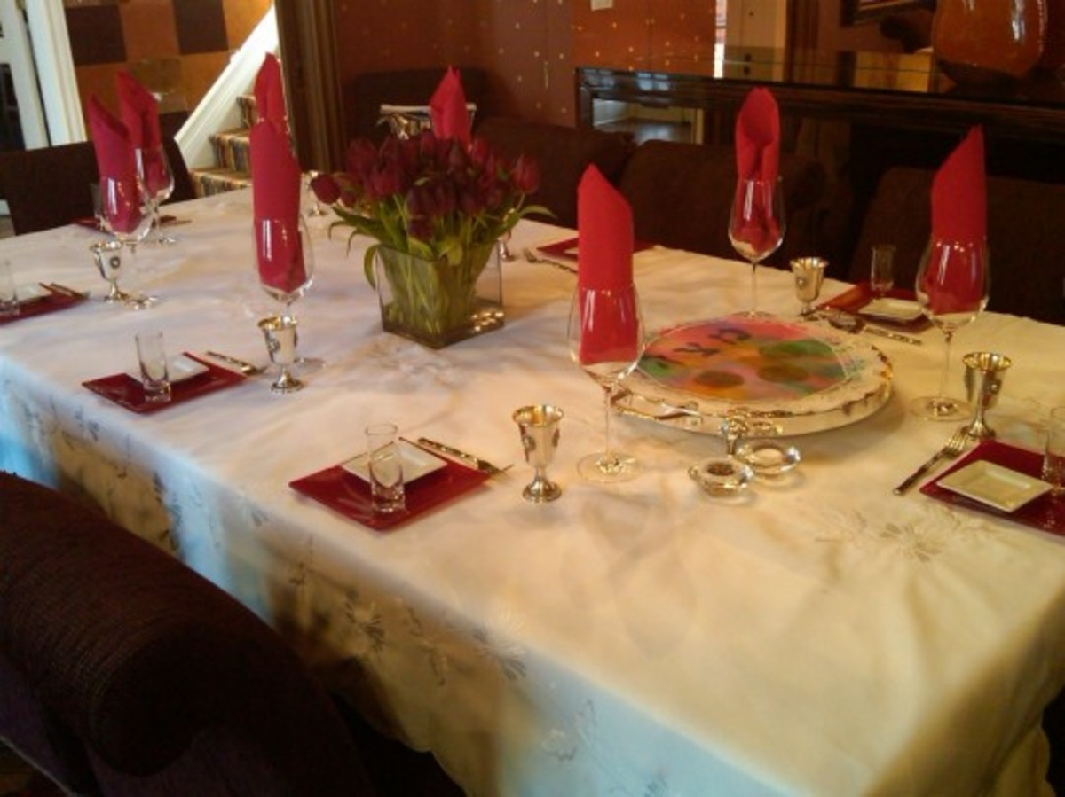 Seder table, Passover table,