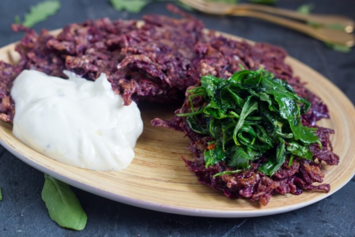 purple latkes
