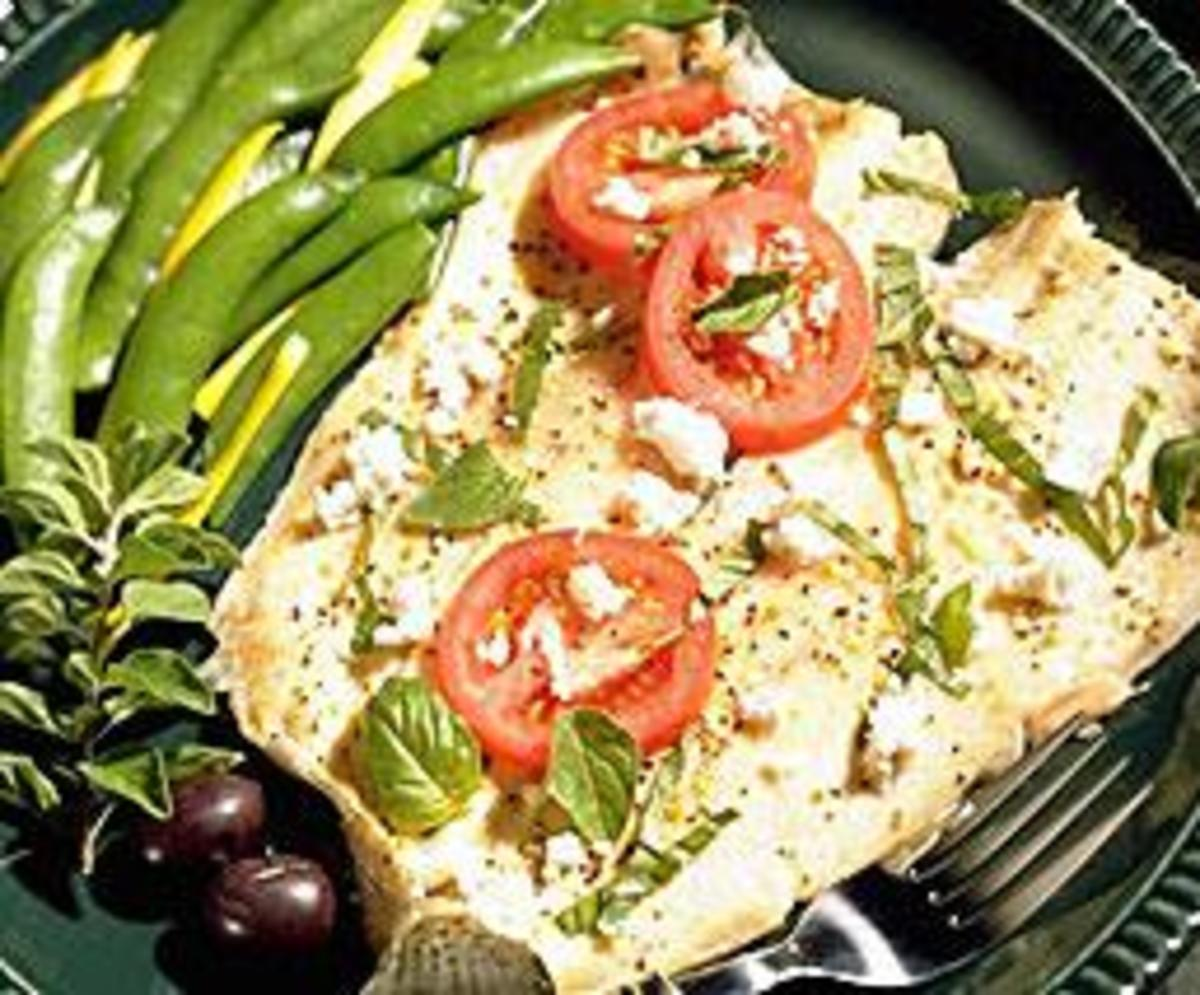 Trout with Herbs and Feta Cheese