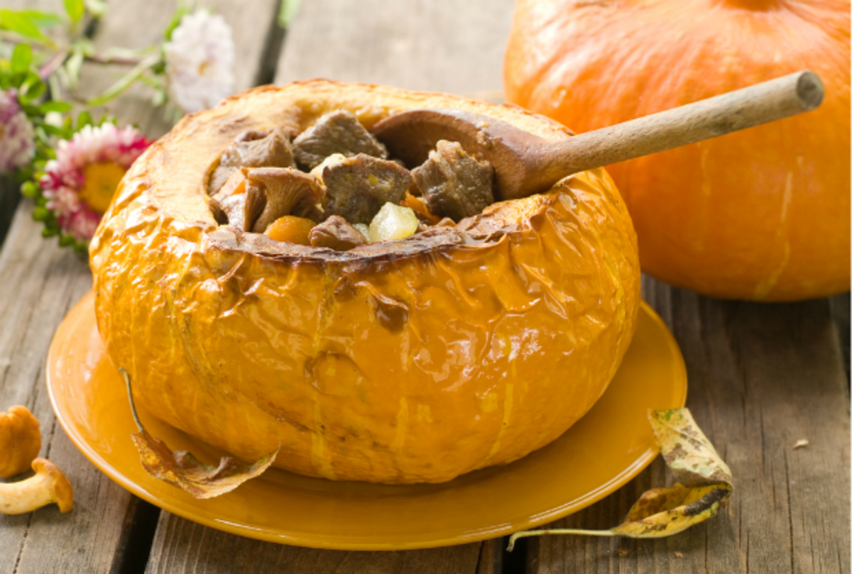 pumpkin stew in the shell