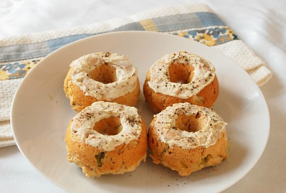 savory baked donuts