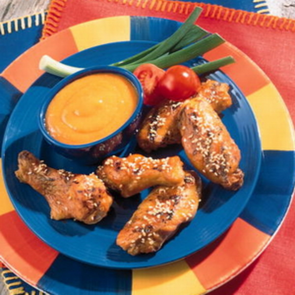 honey bbq sesame wings