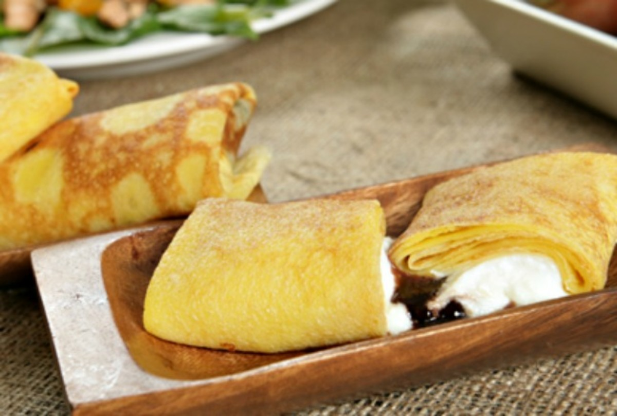 Chocolate Cheese Blintzes