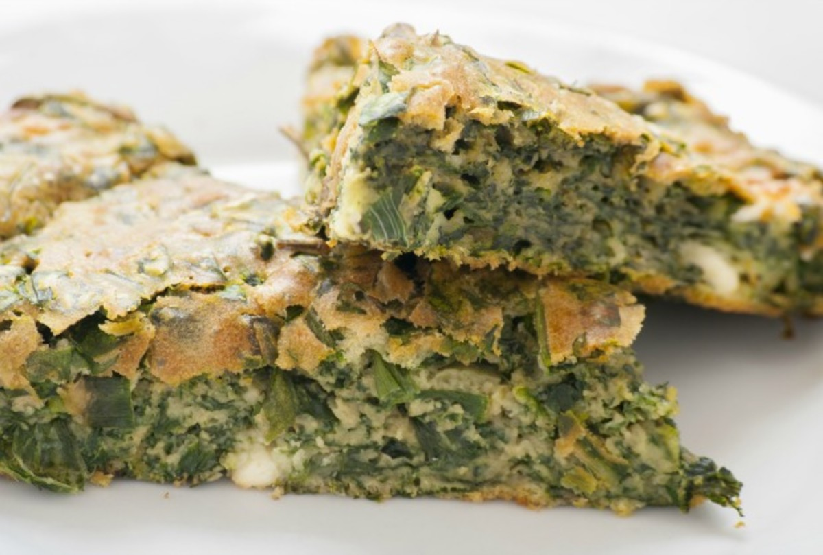 spinach jiben (spinach souffle in a pie shell) - joy of kosher