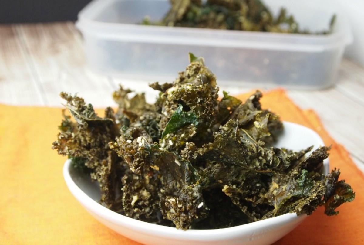 Tahini Kale Chips