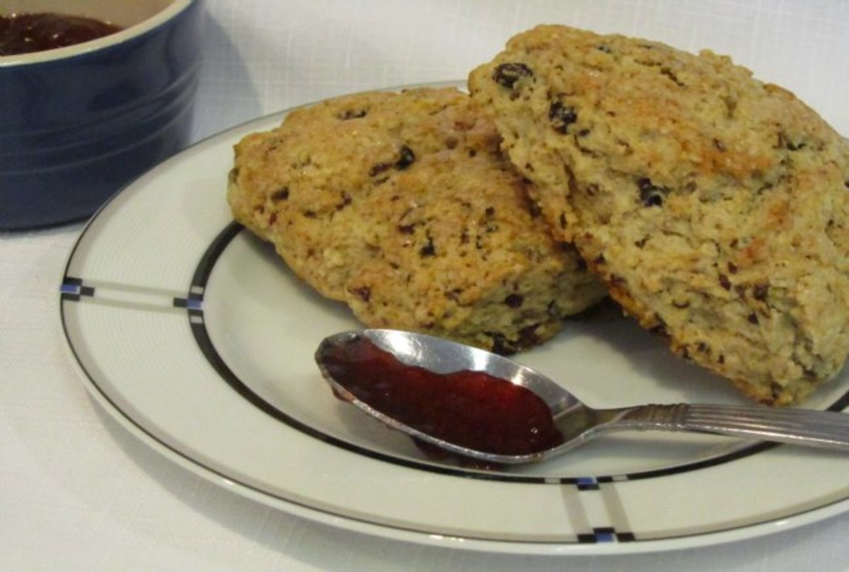 Currant and Oat Scones