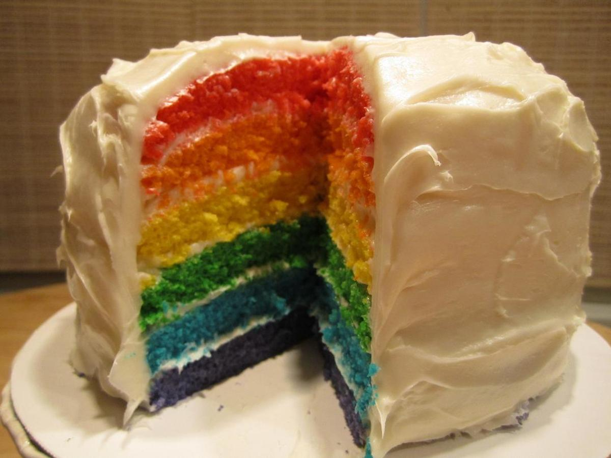 Cake Recipes Rainbow: Rainbow Layer Cake