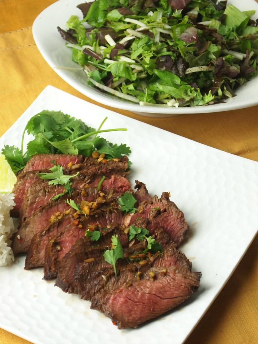 grass fed thai london broil