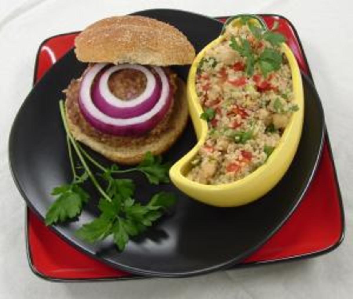 Bulgur, Garbanzo and Tomato Summer Salad