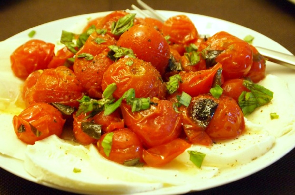 Roasted Cherry Tomato Caprese