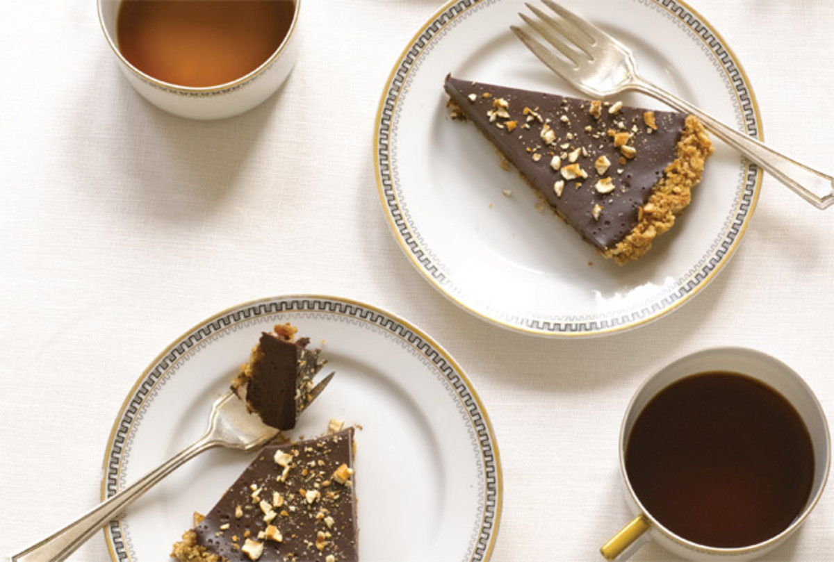 Chocolate Pretzel Crust Tart