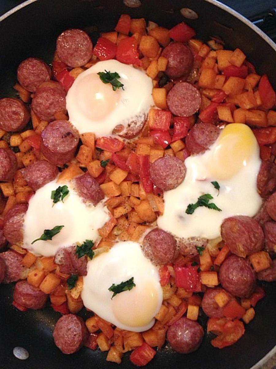 sausage and egg hash