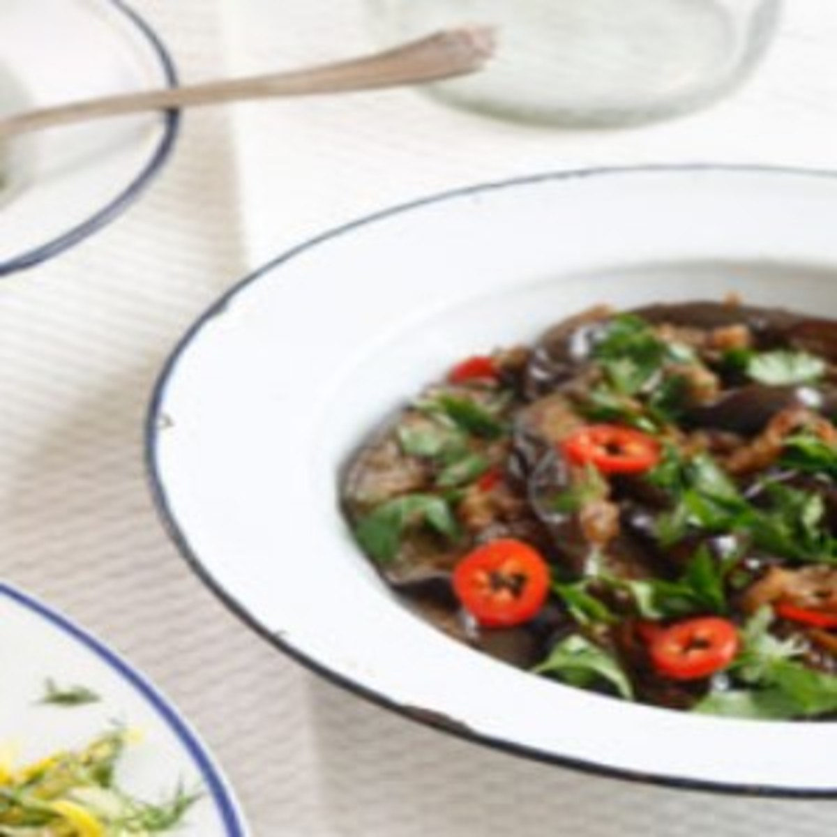 eggplant maple and soy sauce salad