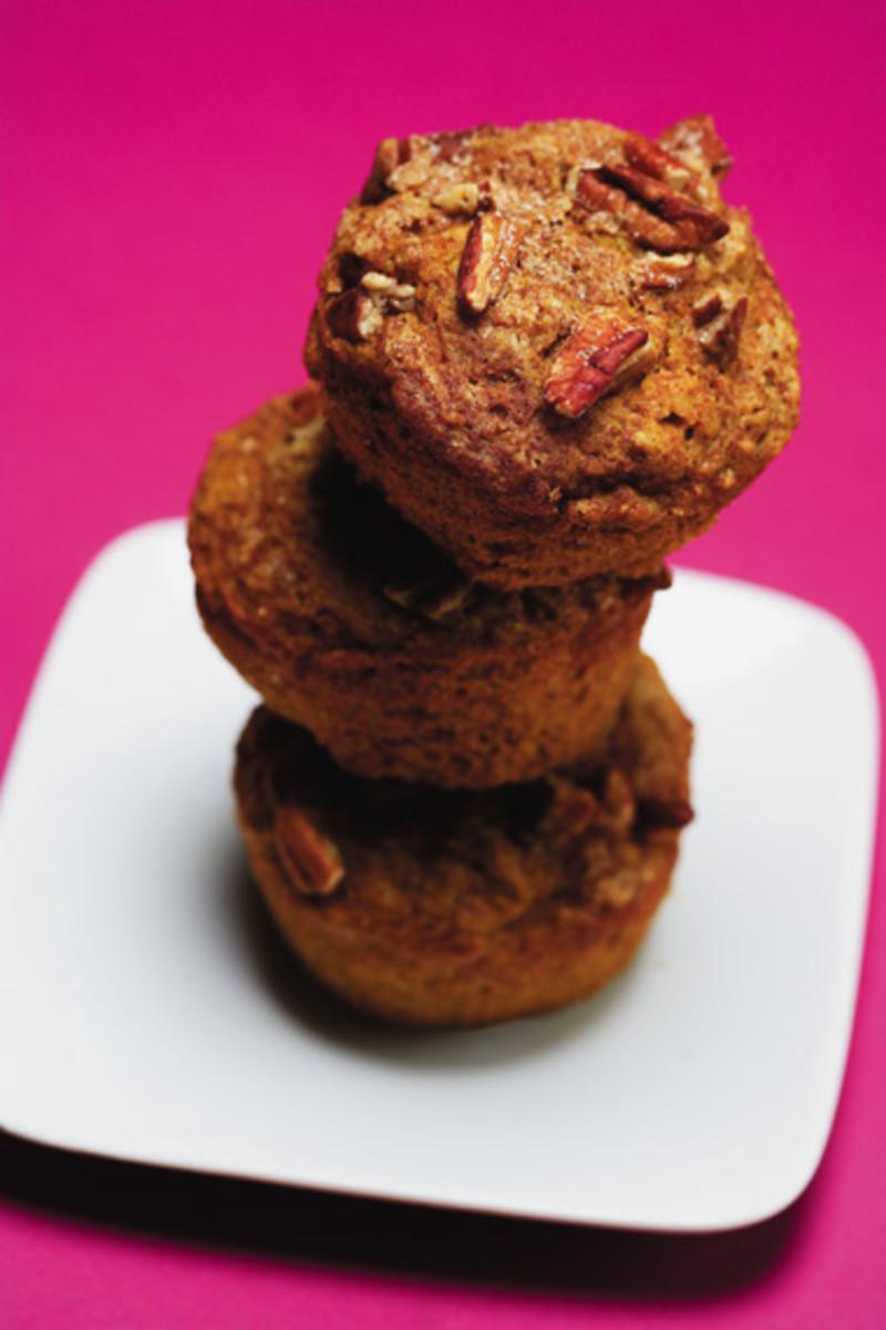 Pecan Pumpkin Bran Muffins