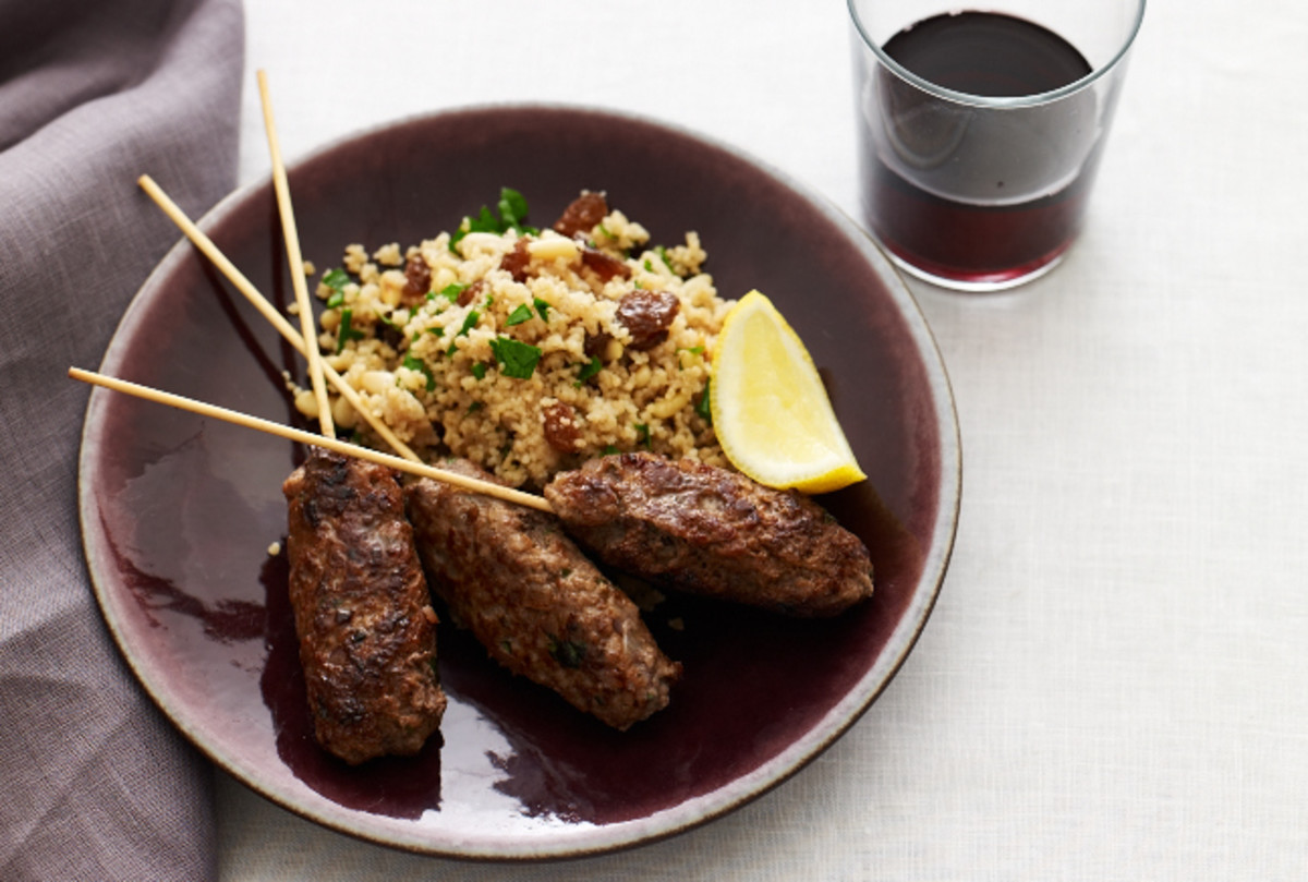 Seasoned Lamb Skewers with Couscous