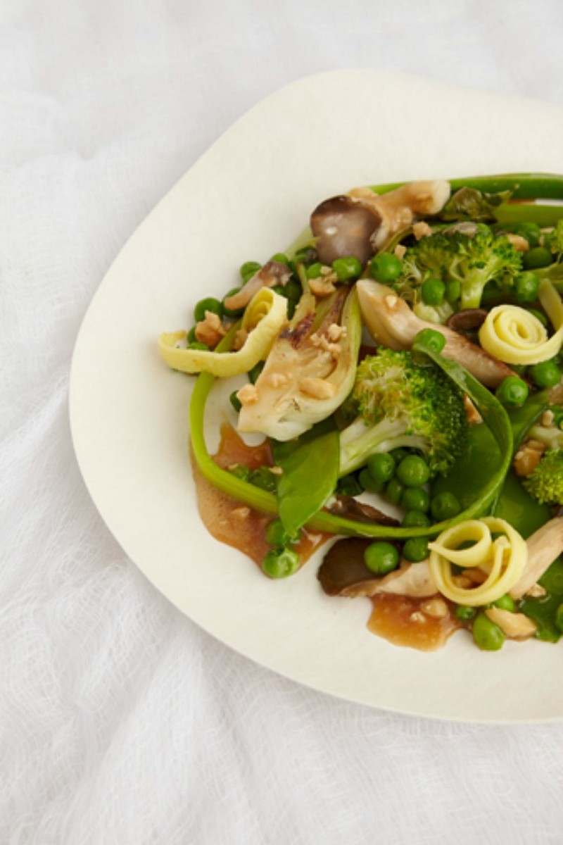 cashew ginger stir fried vegetables