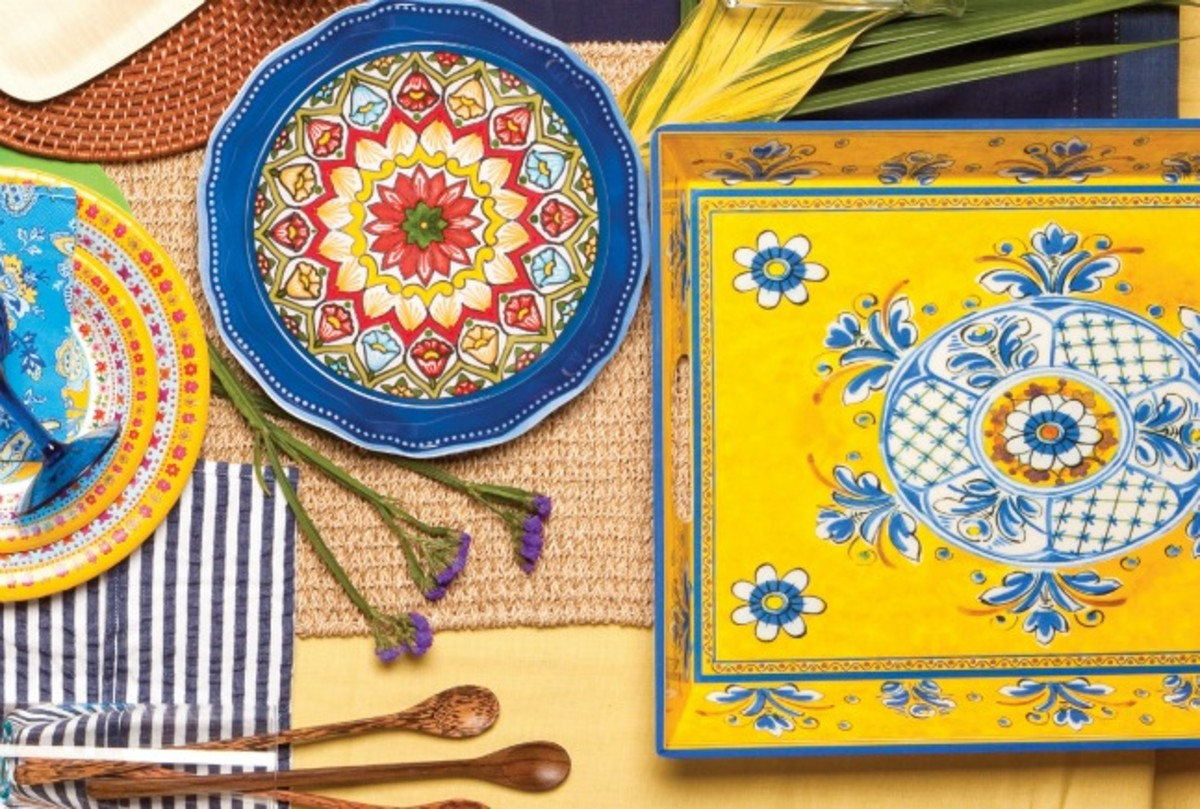 summer tablescape talavera