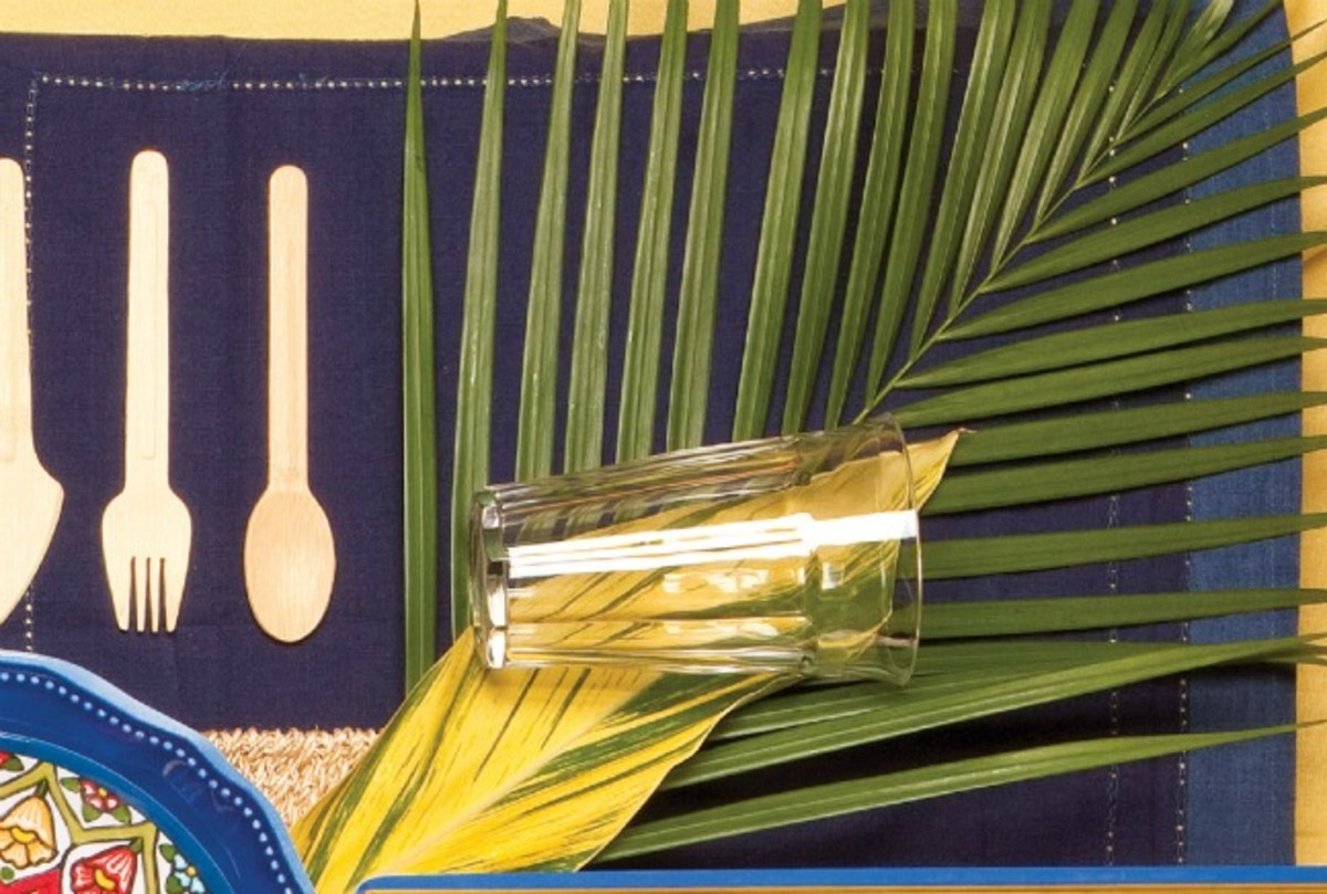 summer tablescape drinkware