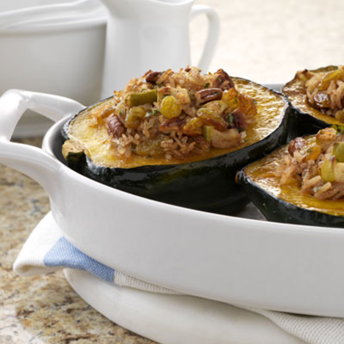 Raisin-Apple Stuffed Squash
