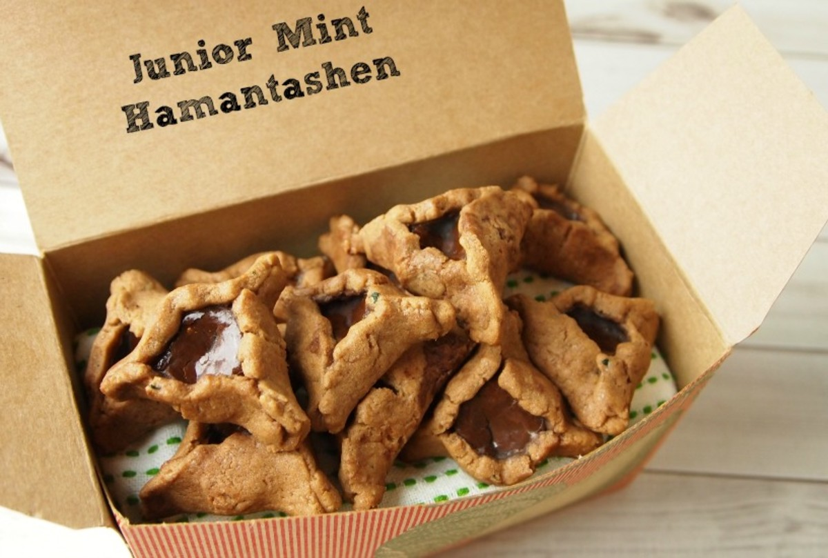chocolate mint hamantashen