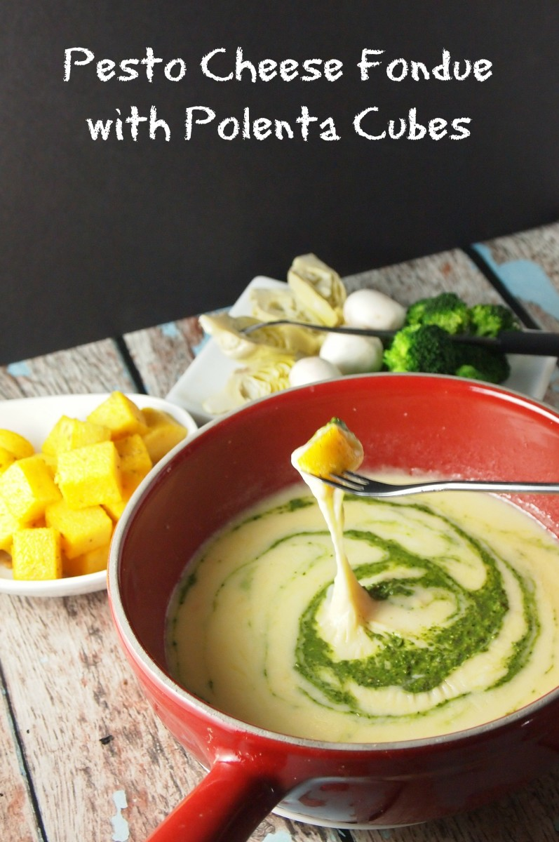 Pesto-Fondue-with-polenta
