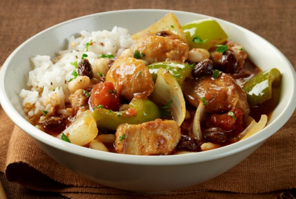 Sweet and Spicy Tomato and Pepper Chicken Stew