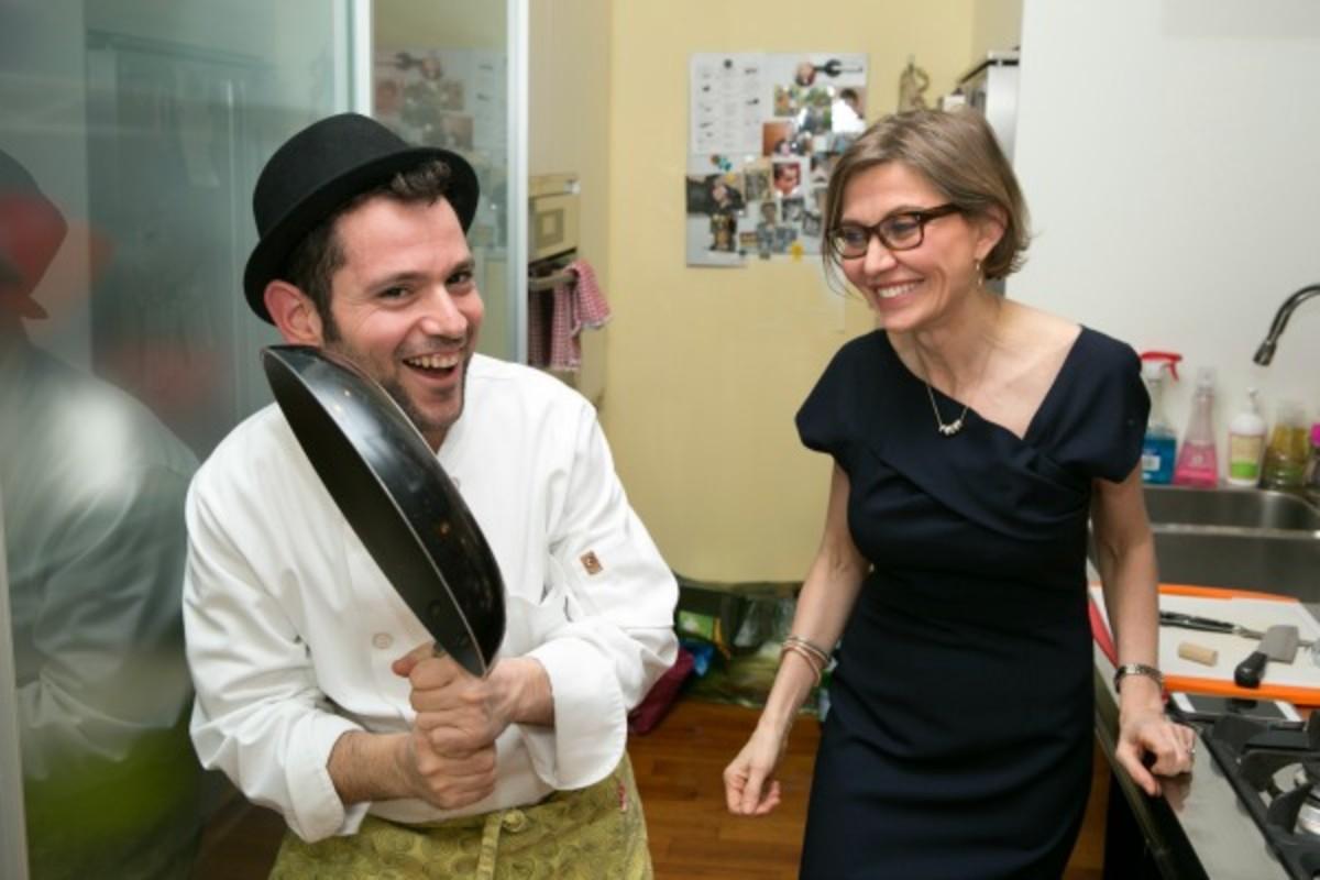 alessanra and chef shlomo