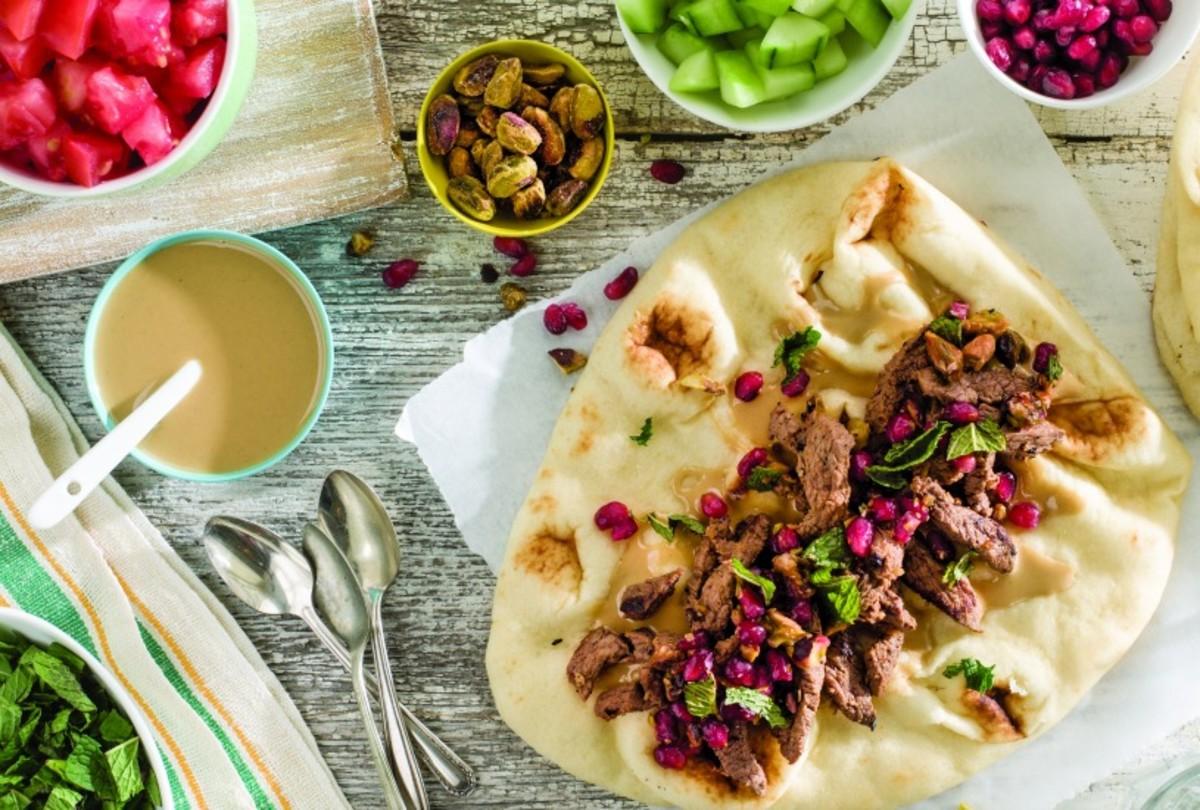 67 israeli food recipes you need to try joy of kosher lamb shawarma with pomegranate mint salsa forumfinder Gallery