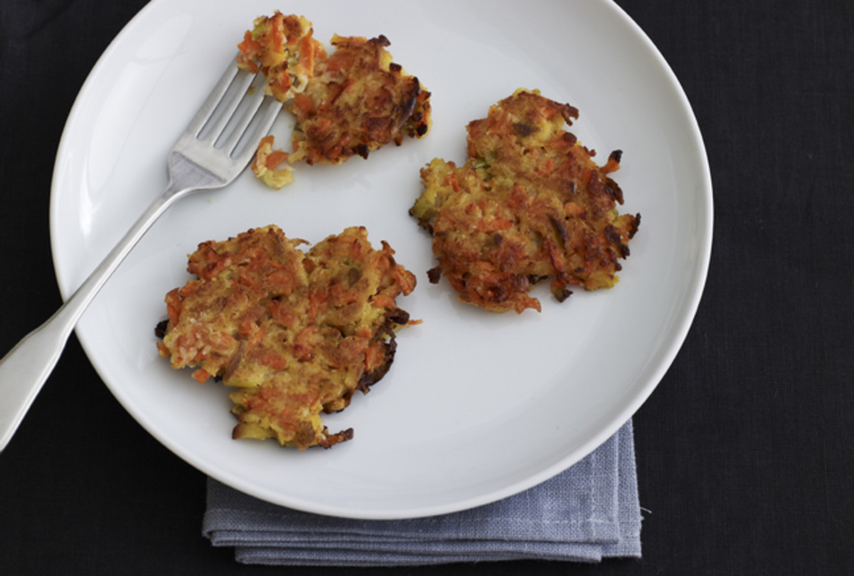 Carrot and Apple Latkes