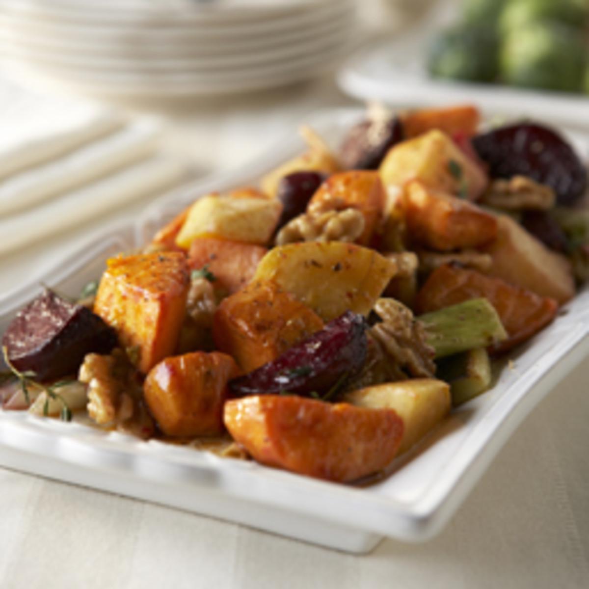 Roasted Vegetables with Walnut Vinaigrette