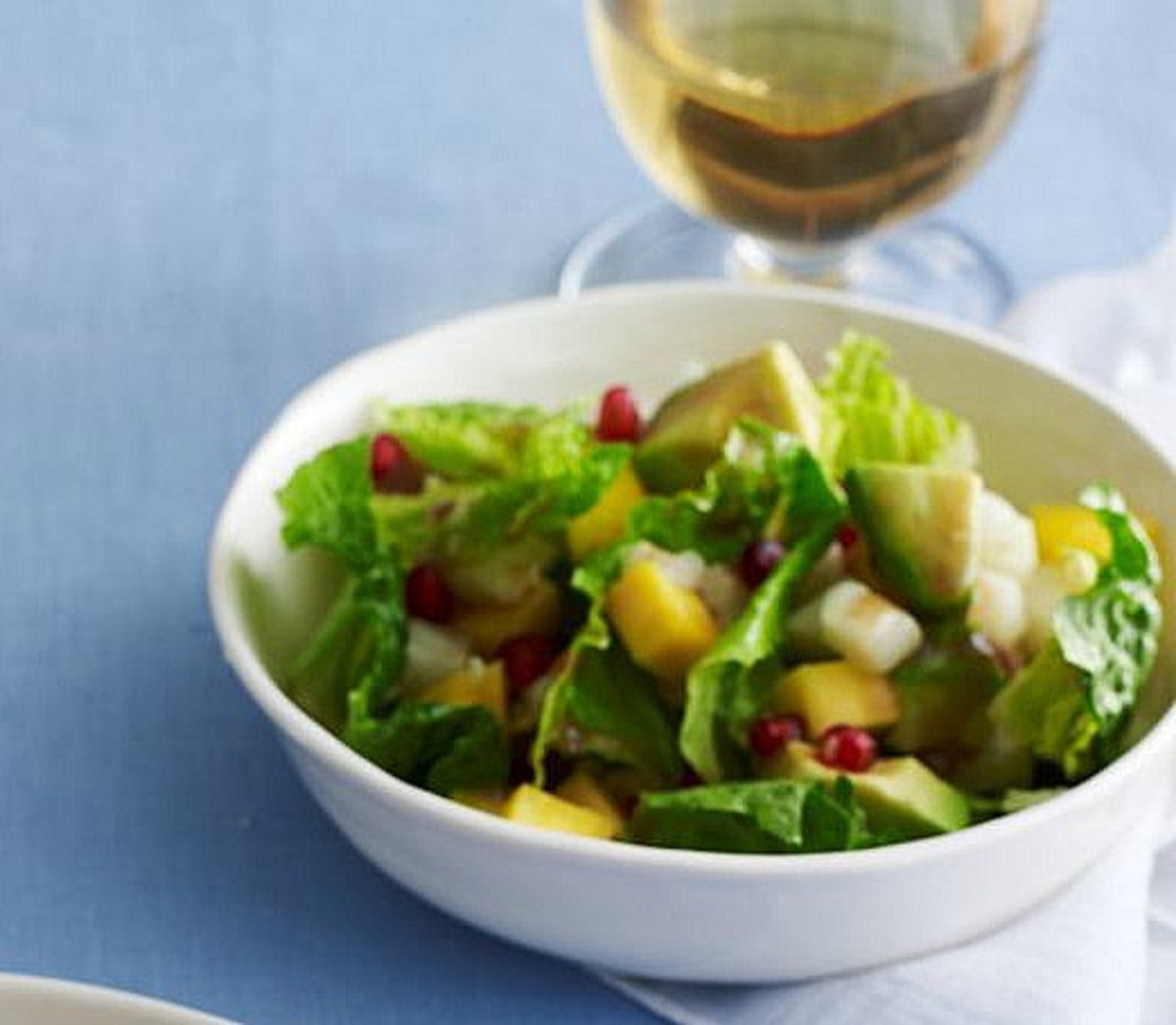 Pomegranate Salad with Berry Vinaigrette