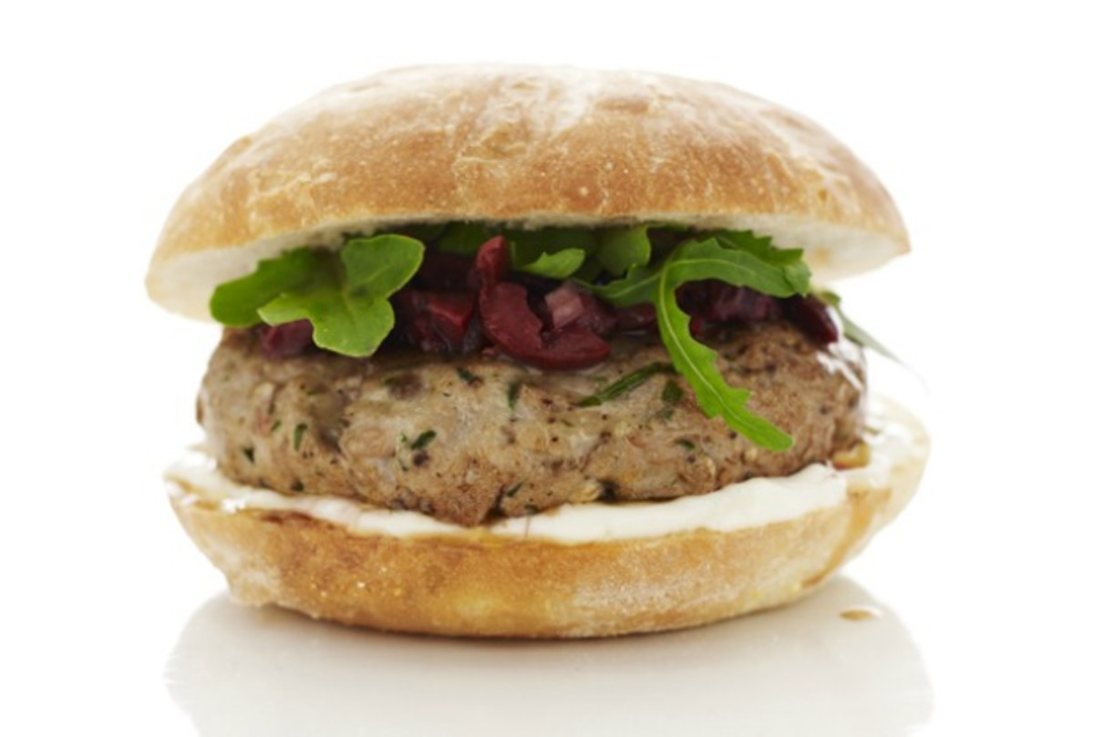 Mediterranean Tuna Burger