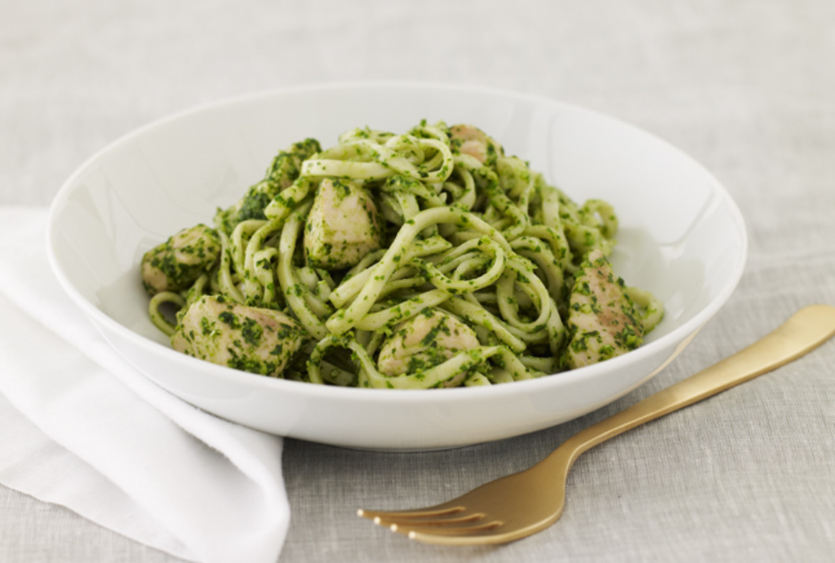 Pesto Pasta with Chicken - Joy of Kosher