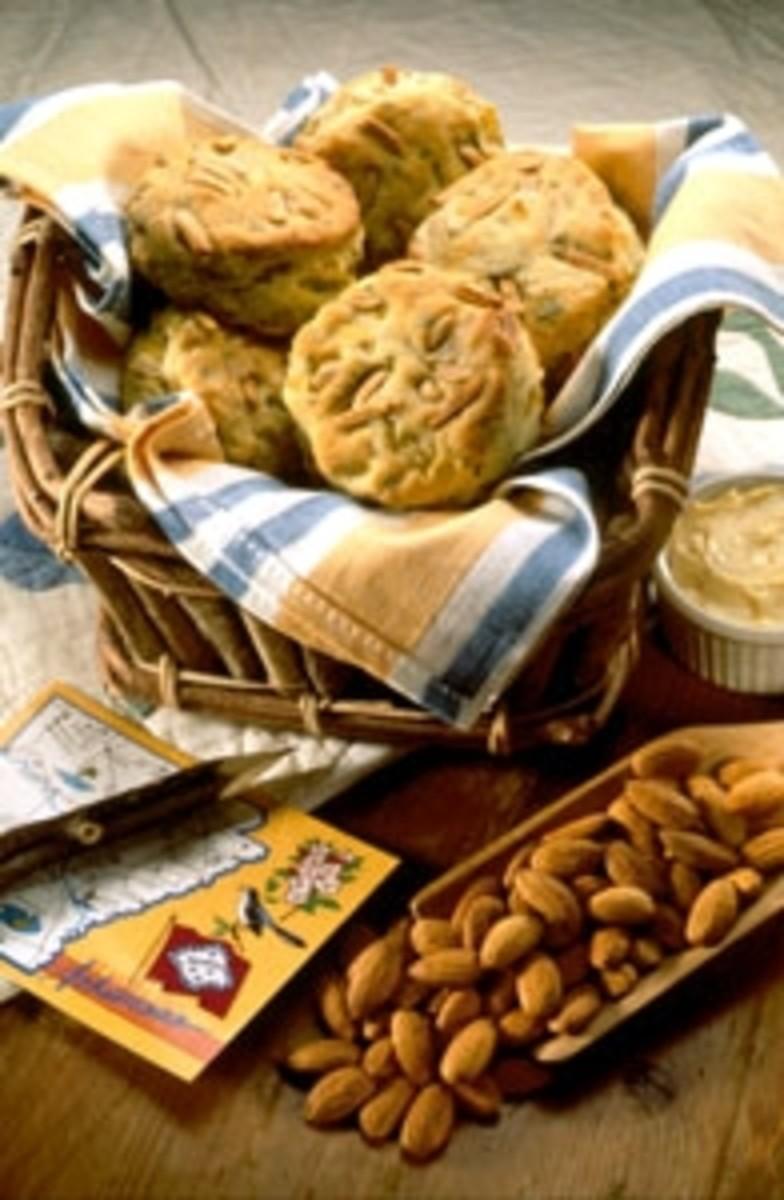 Savory Almond Buttermilk Biscuits