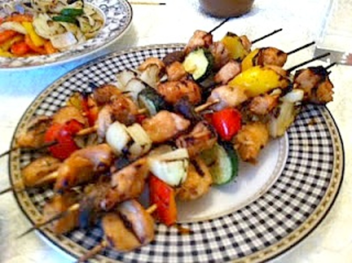 Lebanese Chicken Kabobs