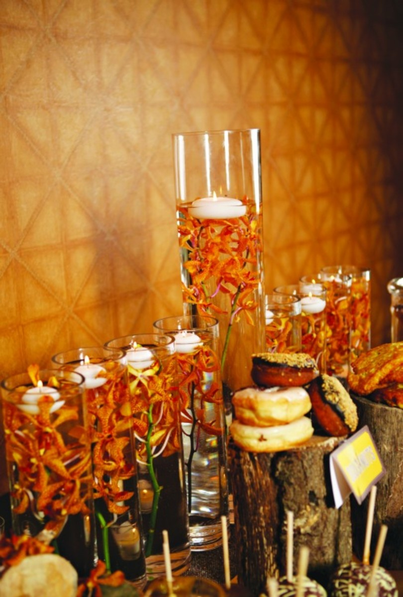 floral menorah
