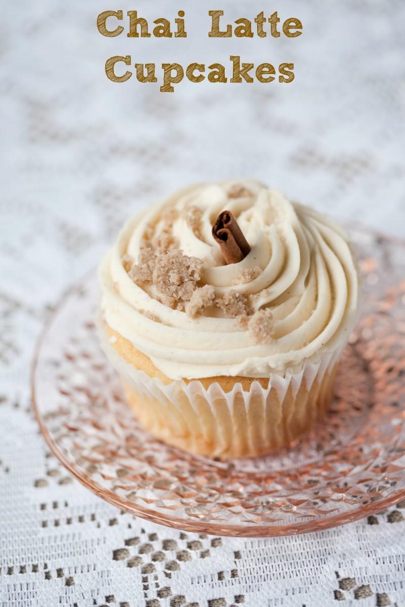 chai latte cupcake
