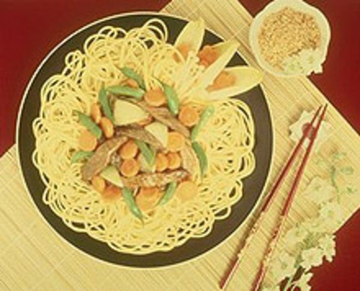 Stir-Fry Beef and Spaghetti