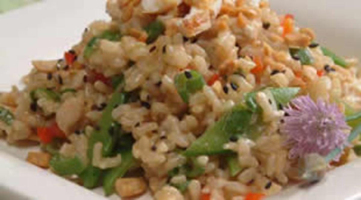 Asian Rice Chicken Salad
