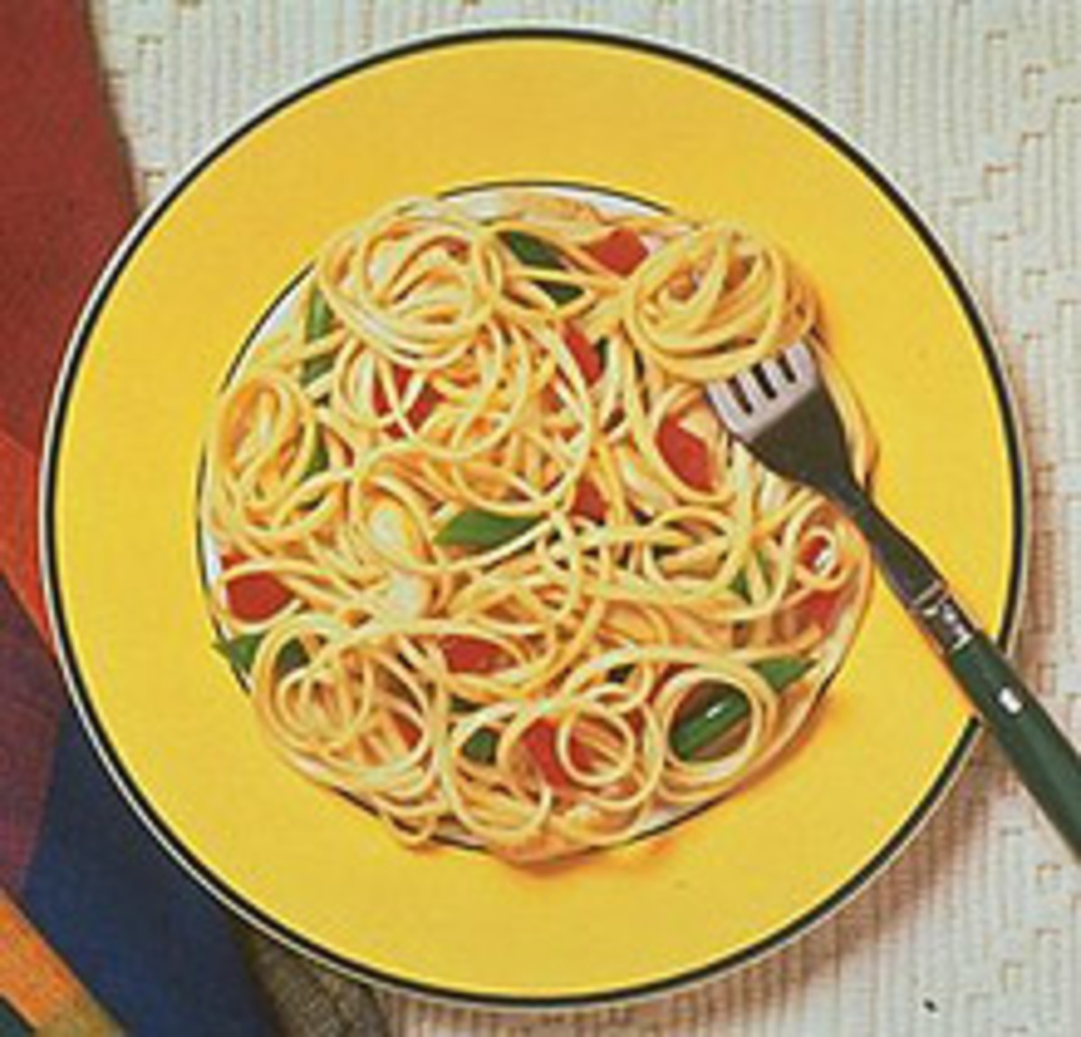 Linguine with Grilled Vegetables and Herb Bread Crumbs