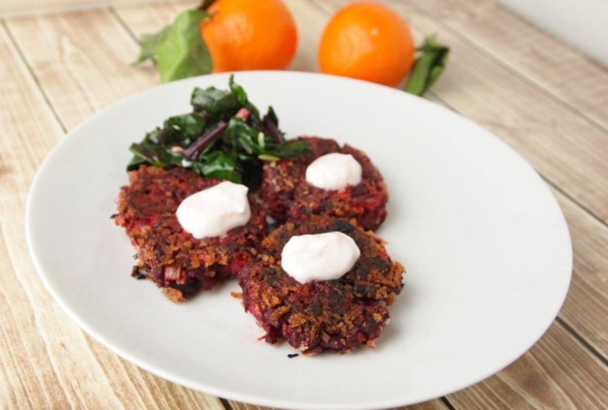 Beet-Fritters