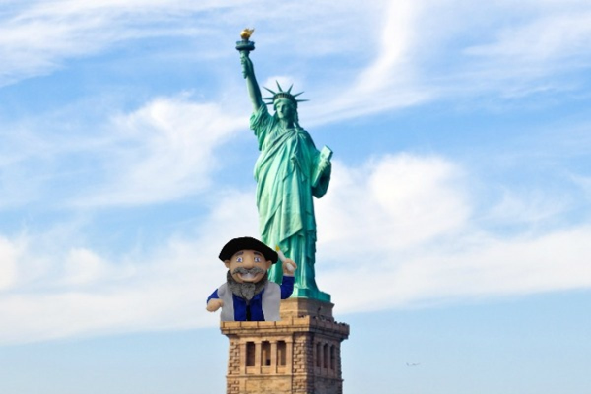 mensch on statue of liberty