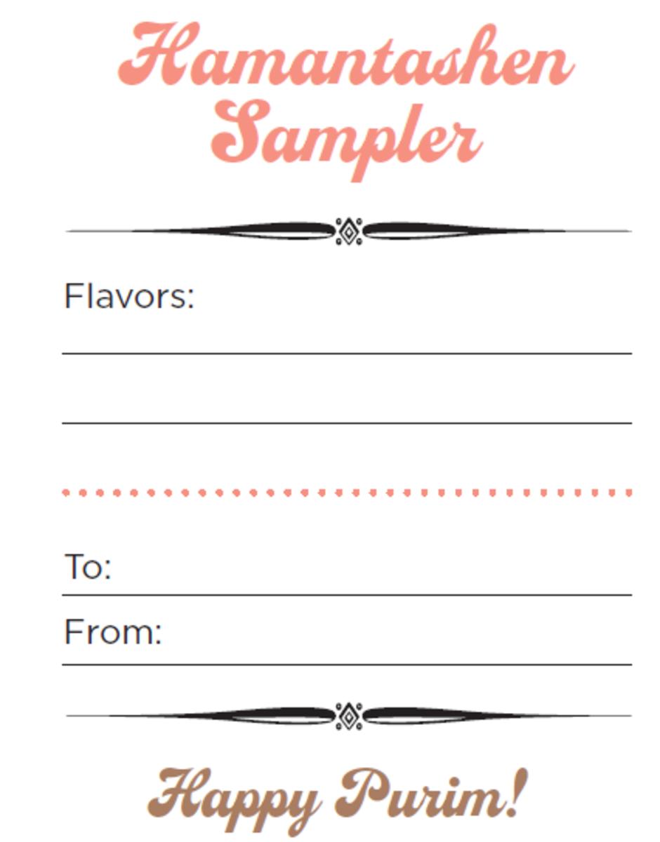 hamantashen sampler card