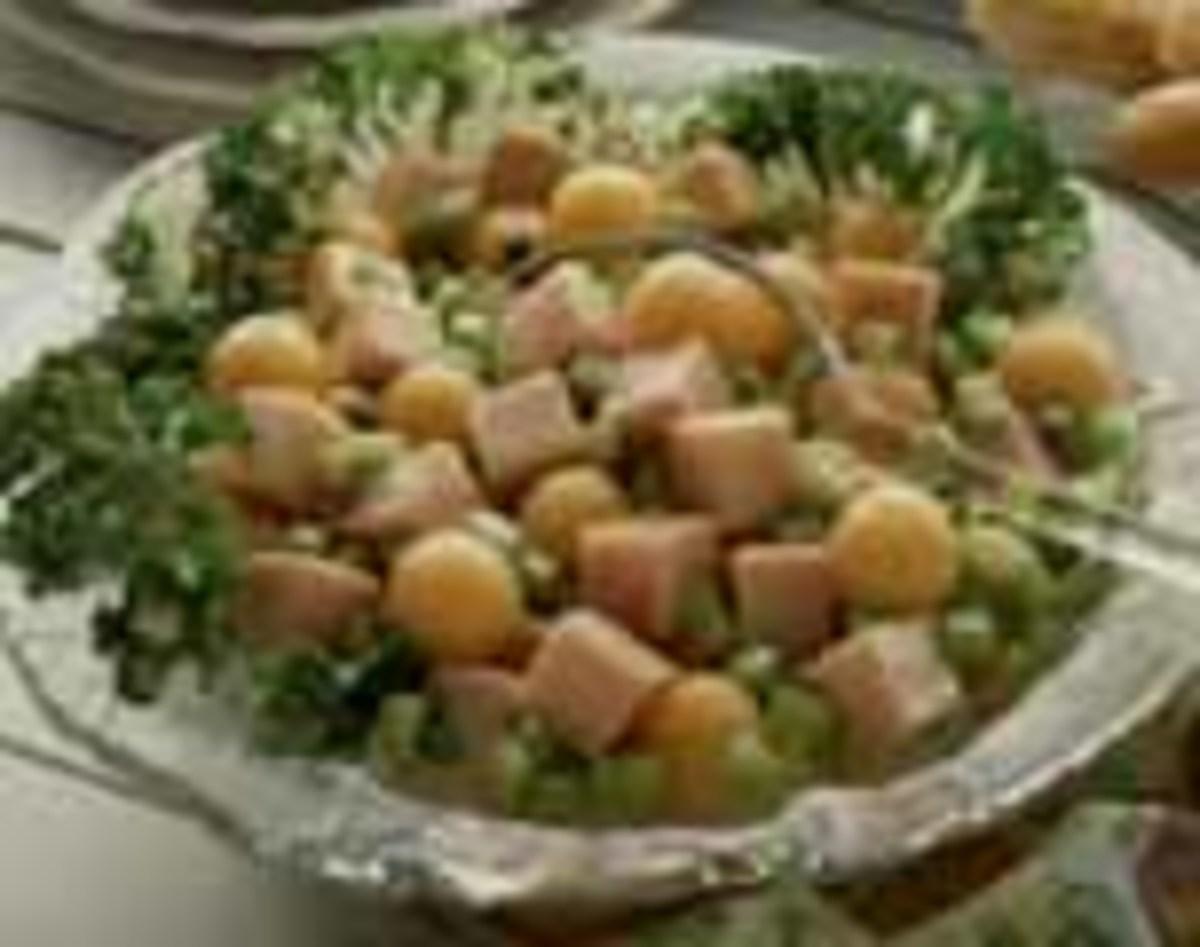 Cantaloupe Turkey Salad Delight