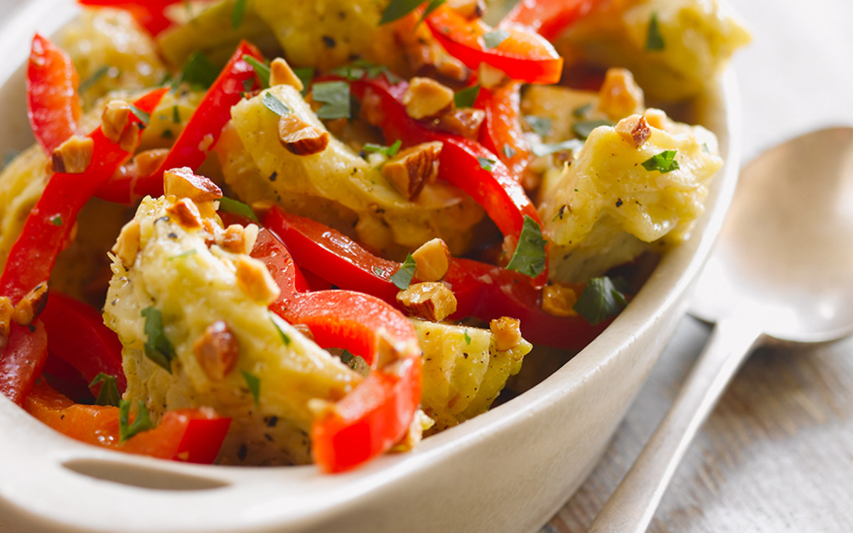 Lemon Artichoke Salad with Almonds
