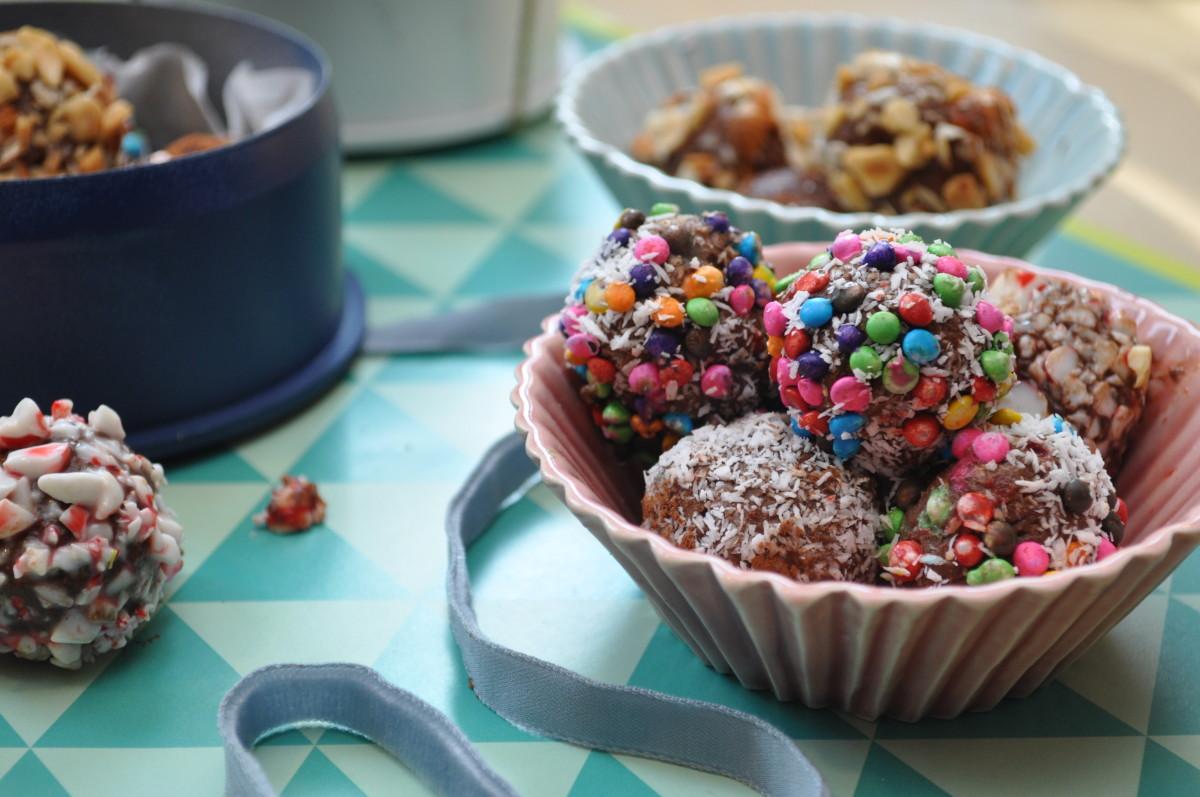 DIY Confetti Chocolate Truffles