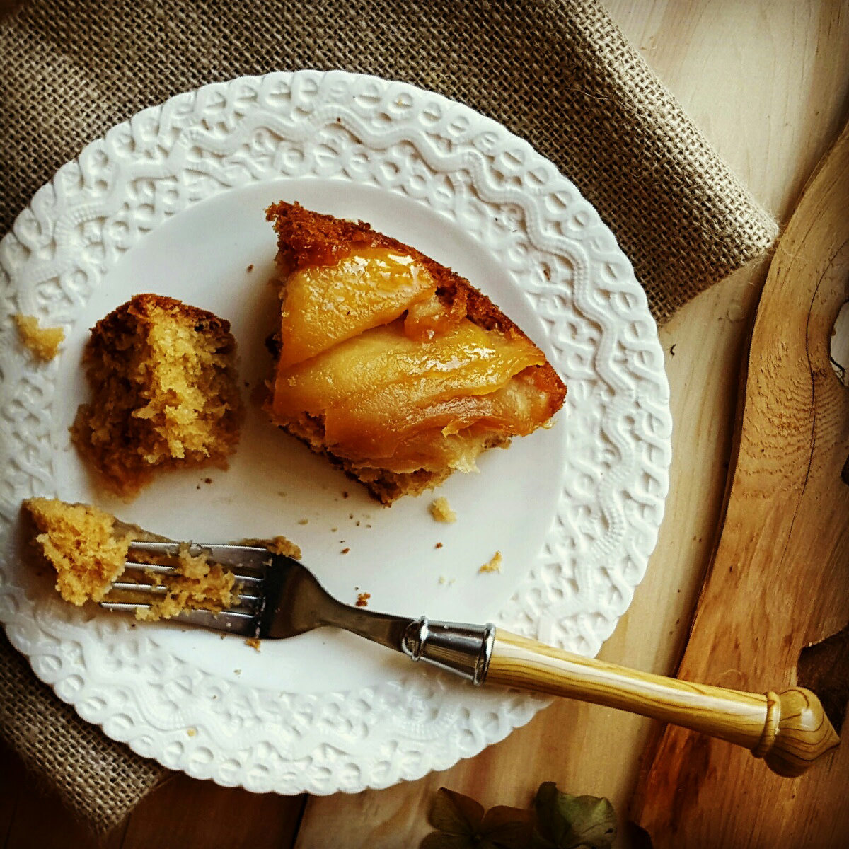 Maple apple tart slice