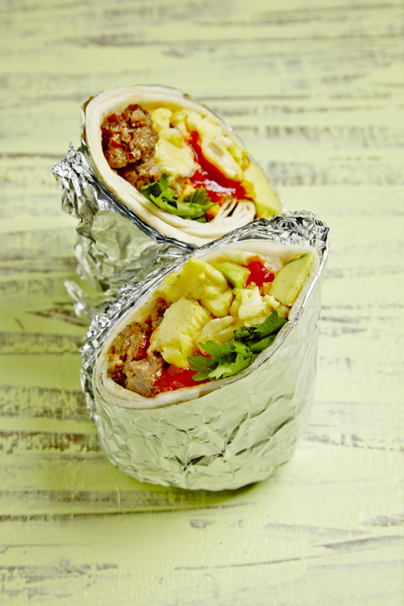All Day Breakfast Burritos
