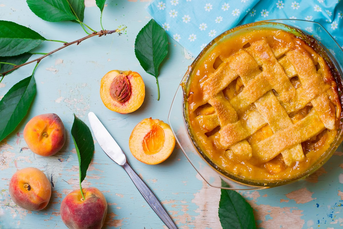 peach pie stock