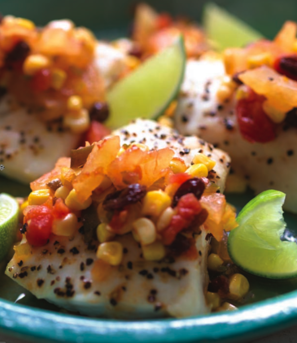 Fish with Pineapple Chutney